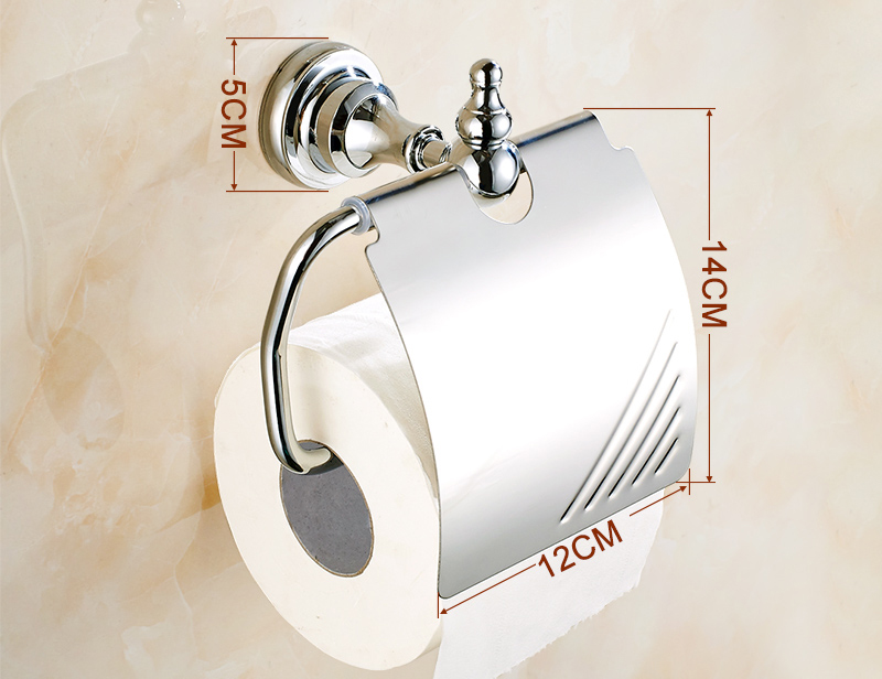 Luxury High Quality Chrome Bathroom Toilet Paper Holder Lavatory Paper Holder Bathroom Accessories Wall Mount