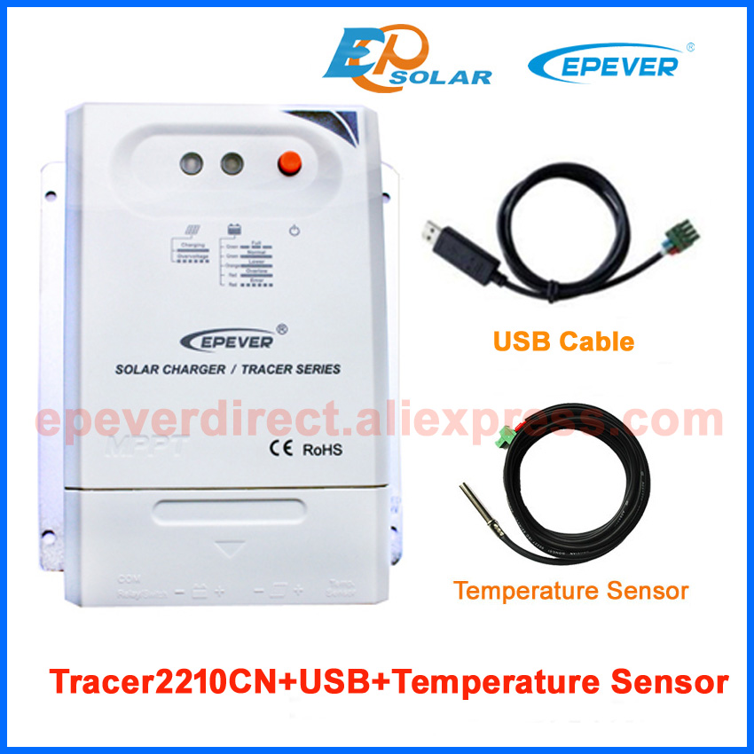 12V/24V MPPT Solar 20A 20amp Battery Charge Controller with USB and temperature sensor Tracer2210CN