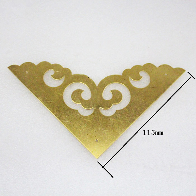 Triangle Brass Coner Cabochon,Ancient Vintage Corner,Flatback Metal Embellishments Scrapbooking,Wooden Box Decor,115mm