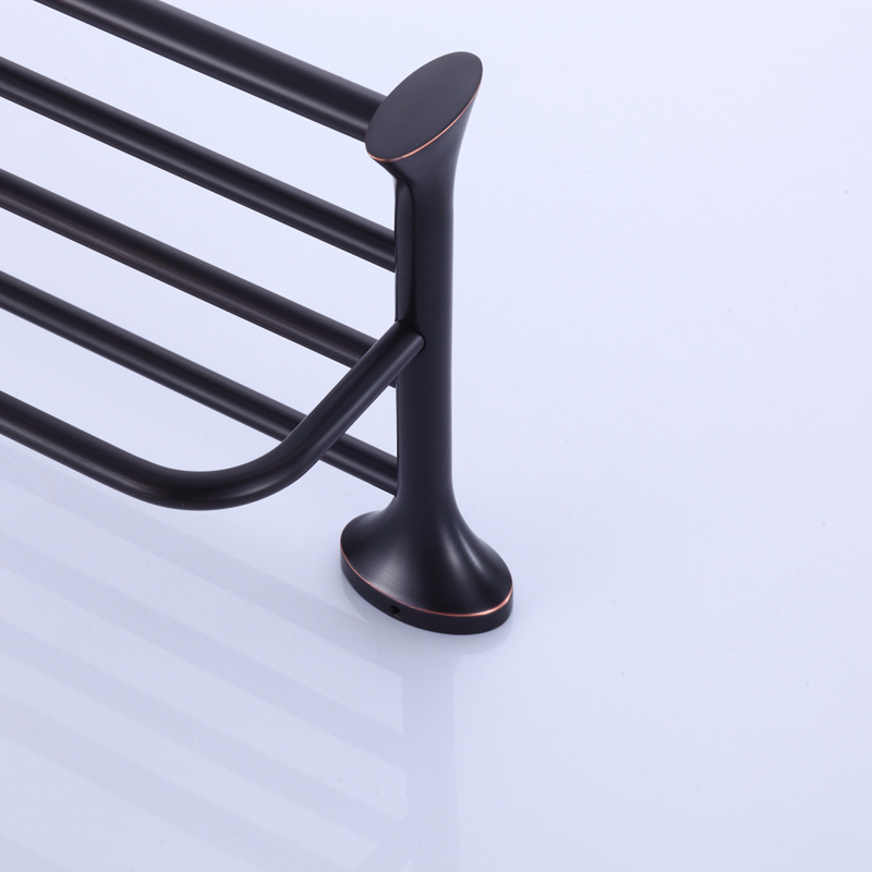 Oil Rubbed Bronze Towel Rack, Brass Towel Shelf  With Bar, Towel Holder for Bathroom Accessories