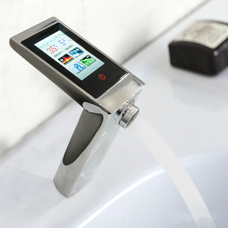 Thermostatic Basin Faucet Touch Screen Temperature And Flow Control Digital Faucet Smart Touch Faucet