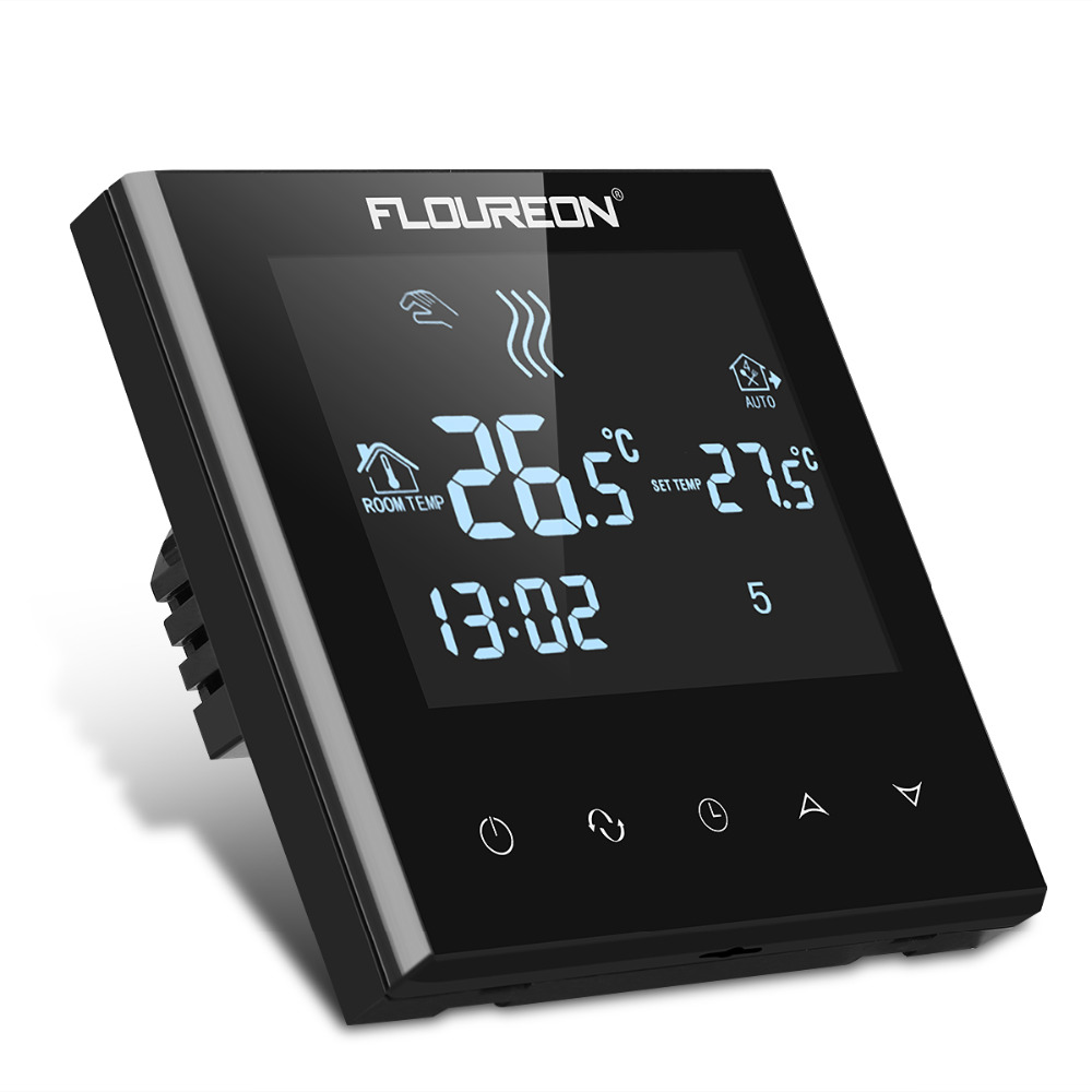 Floureon Large LCD Touch Screen Room Temperature Controller Thermostat Blue Backlight Programmable Anfreezing Heating Thermostat
