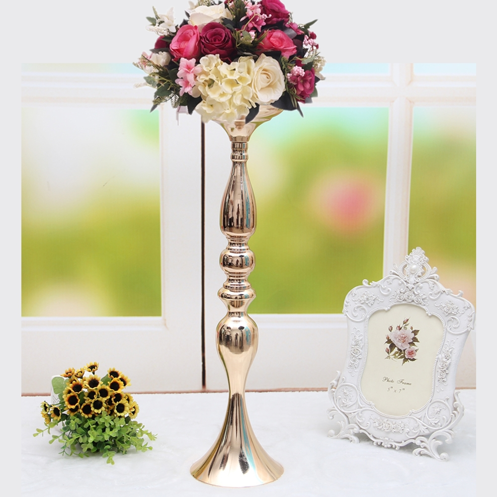 "50 cm/20"" height metal gold candle holder candlestick wedding table centerpiece event flower road lead rack 1 lot =10 pcs"