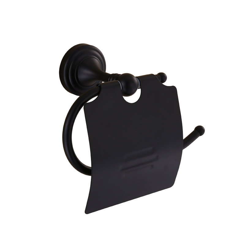 Black Copper Toilet Paper Holder European Style Bathroom Tissue Box Imitation Furute Rack Roll Hardware Accessories