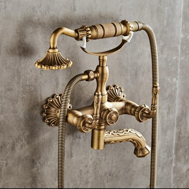 new arrival total brass Classic bronze finished bathroom bathtub shower Set Wall Mounted shower Faucet Mixer Faucet Tap set