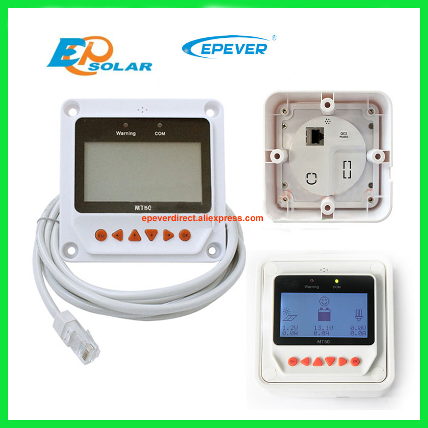 60A MPPT Solar Charger Controller with white MT50 EPsolar regulator wifi function ET6415BND