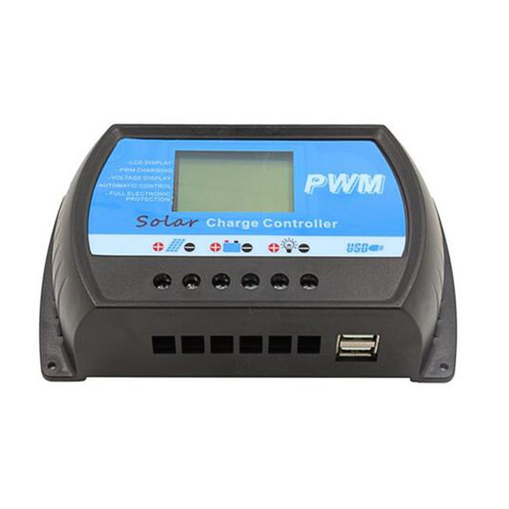 Solar Charger Panel Controller PWM 20A Battery 12V/24V LCD Display Screen Auto 5V USB Charging Machine High Quality