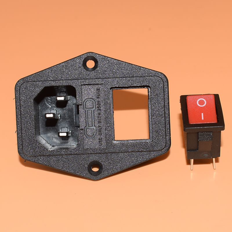 NEW HIGH QUALITY Red Light Power Rocker Switch Fused IEC 320 C14 Inlet Power Socket Fuse Switch Connector Plug 10A 250V B2C