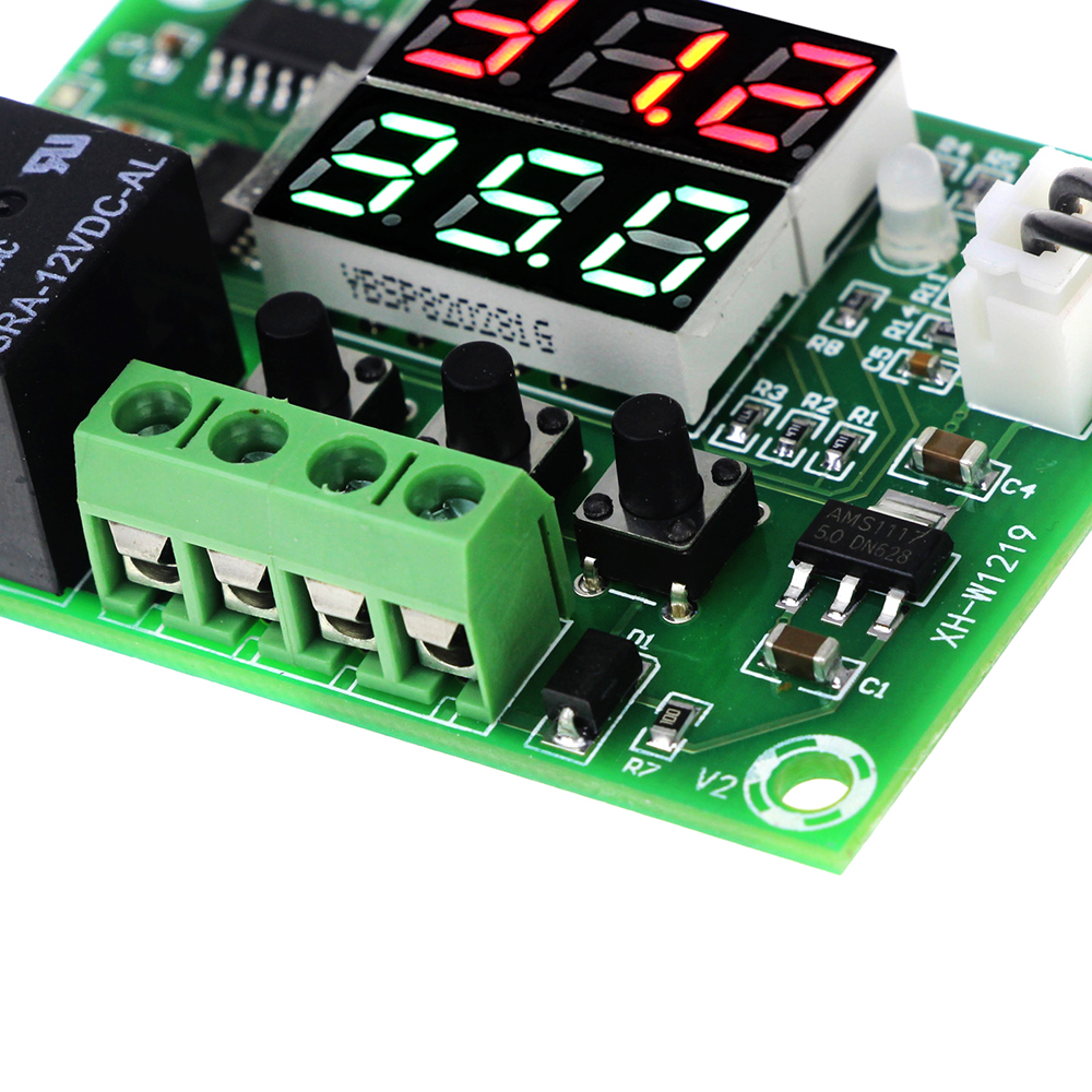 High Quality XH-W1219 DC 12V Thermostat Temperature Controller Switch Dual LED Digital Display + Waterproof NTC Sensor Module