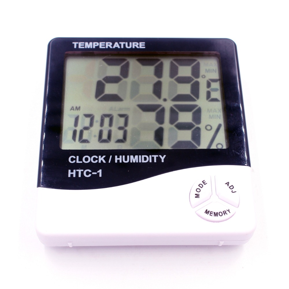 WHDZ HTC-1 Electronic Temperature Humidity Meter Indoor Room LCD Digital Thermometer Hygrometer Weather Station Alarm Clock
