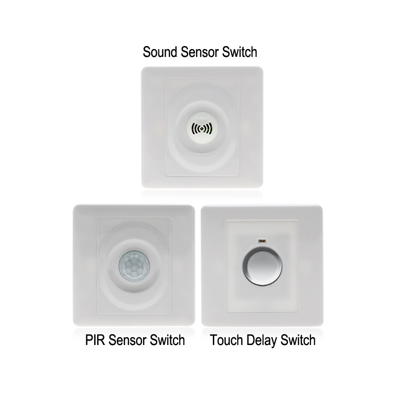 Wall Touch Delay Sensor Induction Switch/Sound Control Smart Switch/Human Body PIR Infrared Motion Sensor Switch For Lamp Bulbs