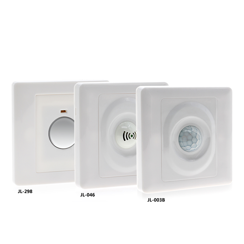 PIR Sensor Human Body induction Switch AC100-250V Wall Type Sound Control Sensor Switch / Touch Delay Switch Lamps