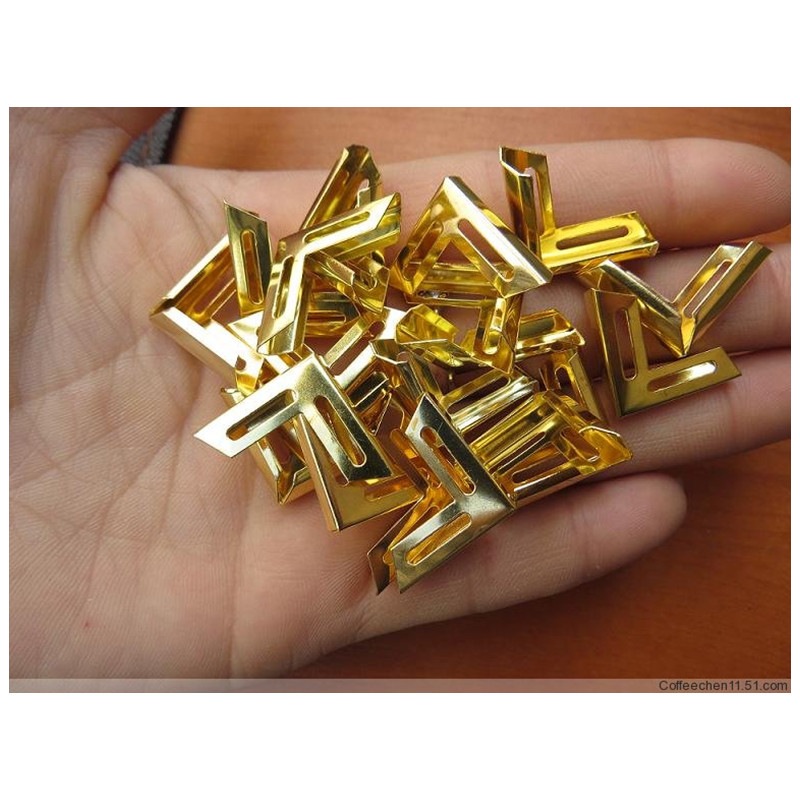 18mm Golden Decorative Metal Corner Brackets For Books Scrapbooking Photo Albums Menus Corner Protectors Crafts DIY,20Pcs