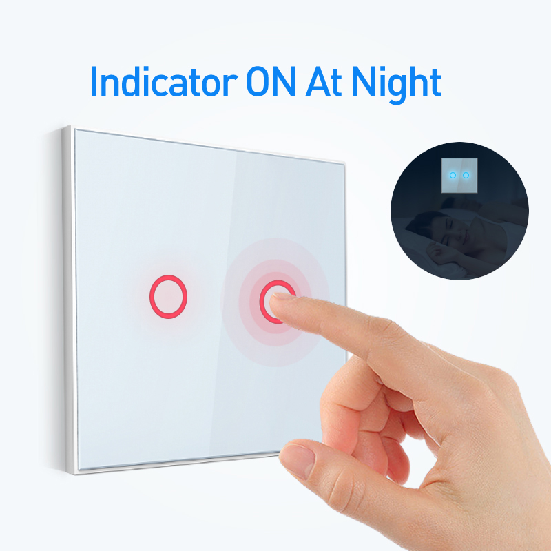 NEO Coolcam Smart Home Z-wave Wall Light Switch Home Automation Z Wave Wireless Smart Remote Control Light Switch EU-2Gang
