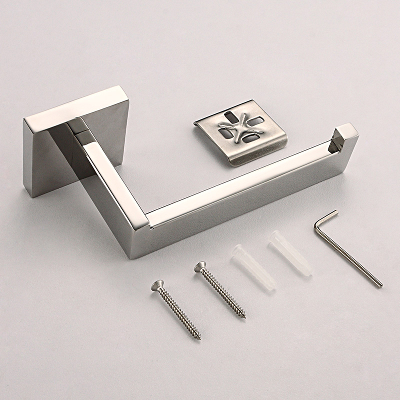 Modern Toilet Paper Roll Holder Wall Mounted Accessory Stainless Steel Brushed Bathroom Lavatory Rolling Toilet Paper Holder