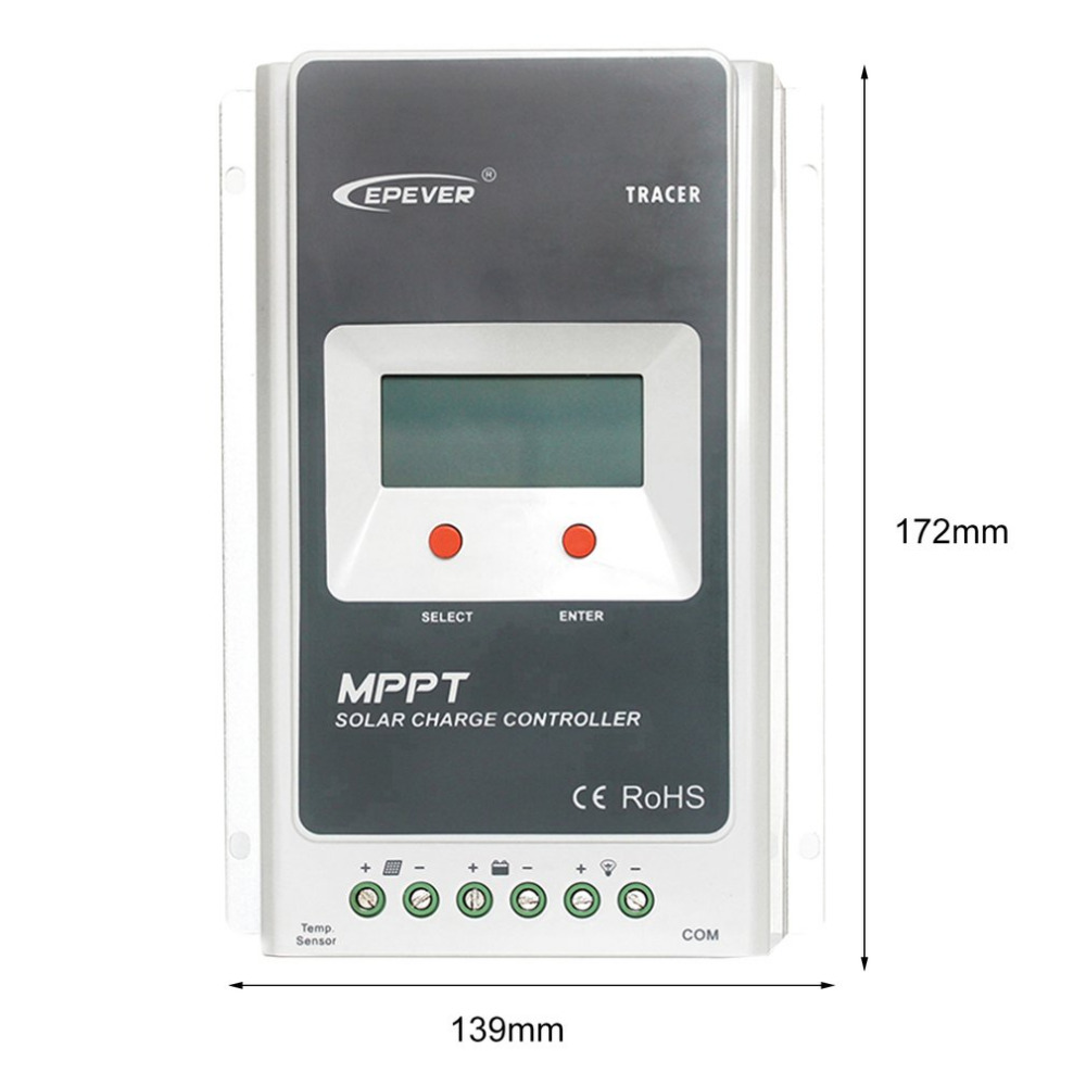 MPPT 10A Solar Charge Controller Battery Regulator 12V/24V DC Automatic With LCD Display PV Reverse Polarity Protect 1210A
