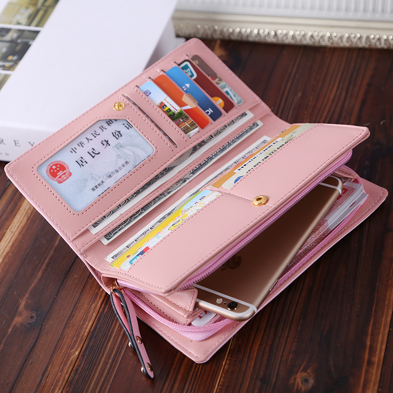 2017 Rushed Promotion Zipper Preppy Style Long Zip Around Wallet Pu Women Wallets Designer Brand Purse Party Female Card Holder