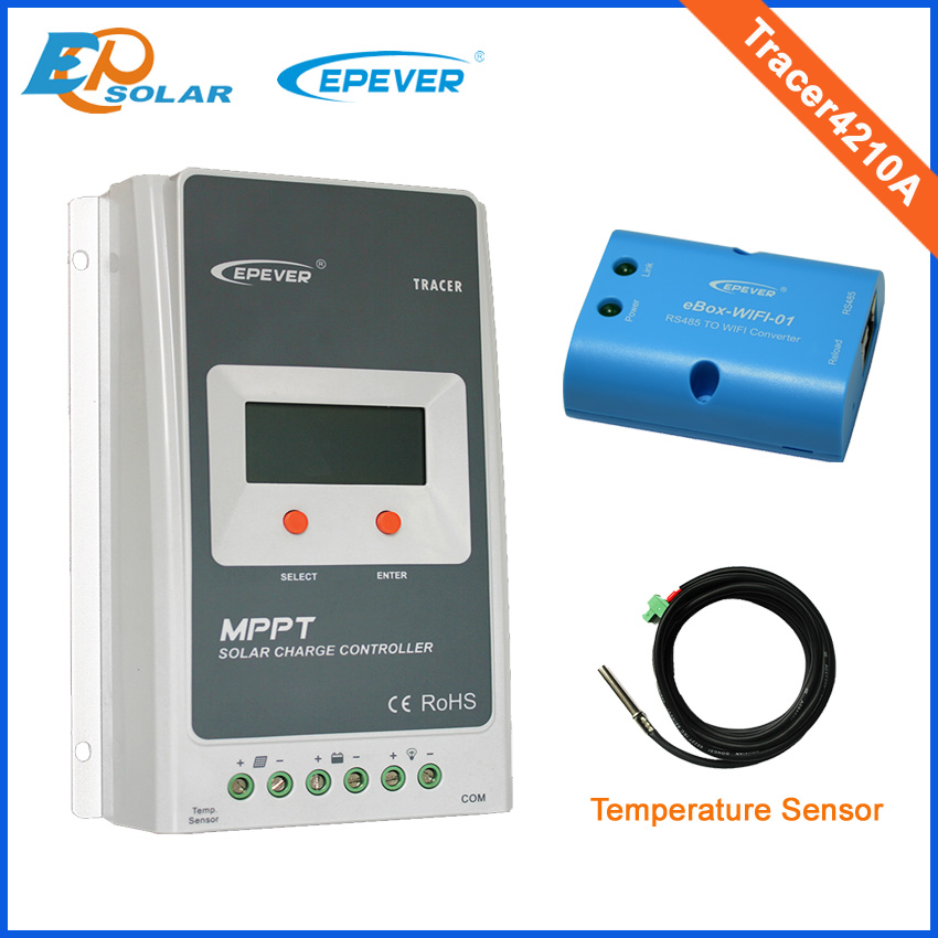 Solar battery charging home system mppt regulator with wifi function USB and sensor Tracer4210A 40A