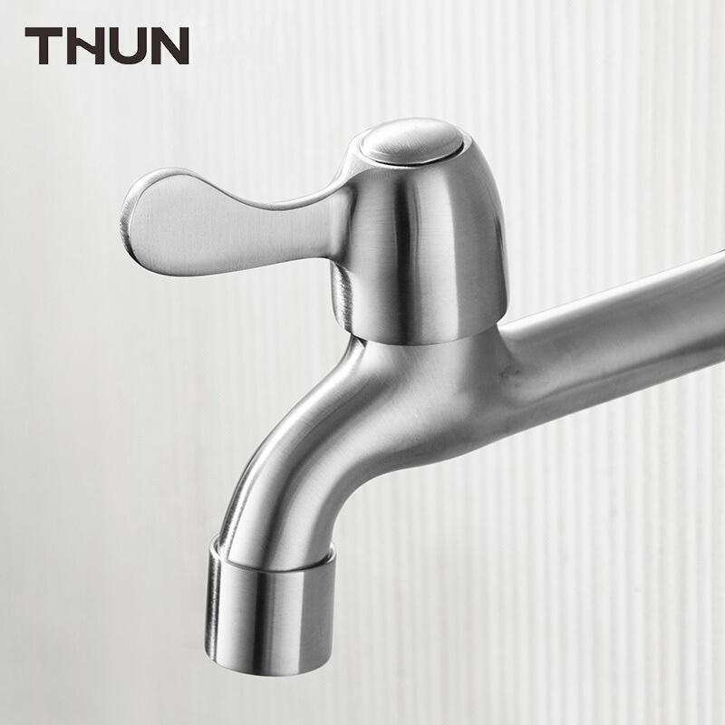 THUN New Style Stainless Steel 304 Washing Machine Tap Wall Mounted Bibcocks