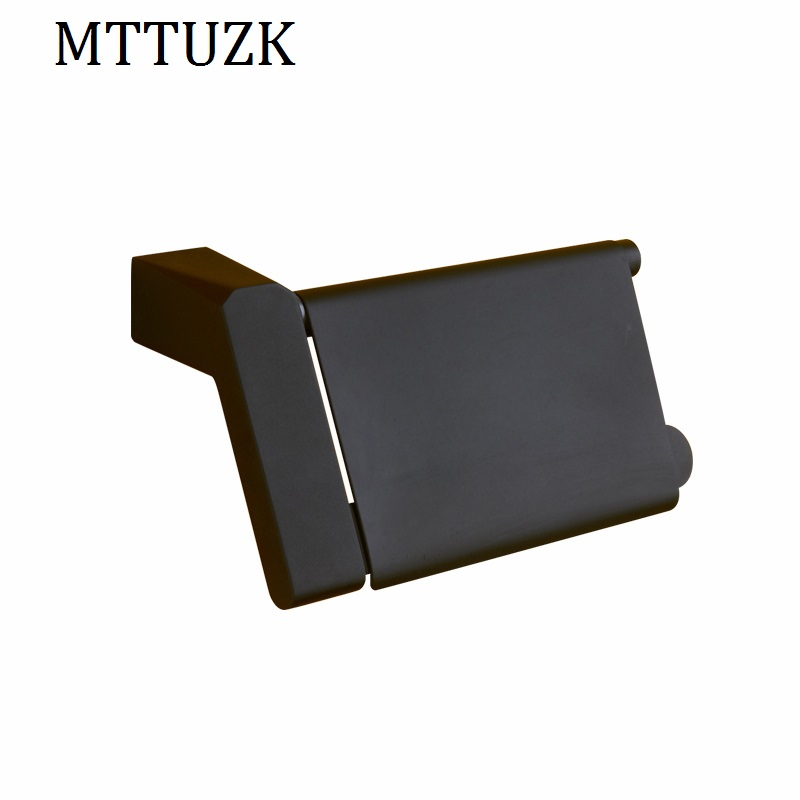 MTTUZK Black Stainless steel paper towel rack bathroom paper holder roll Holder tissue holder with cover suporte de rolo