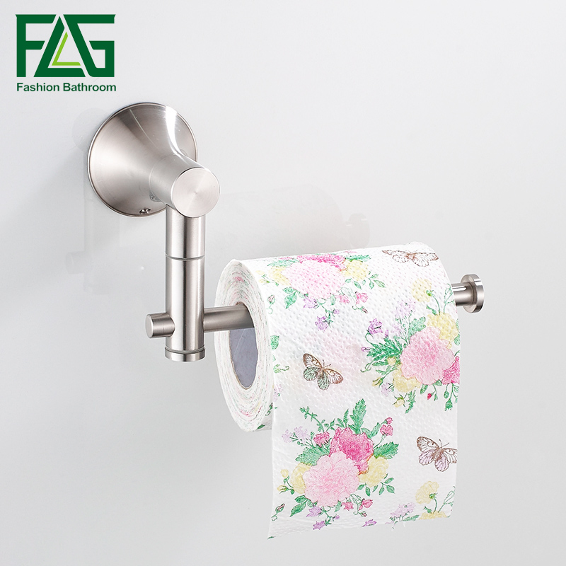 FLG Toilet Paper Holder Stainless Steel Brushed Nickel Wall Mount toilet paper roll holder Bathroom Accessories