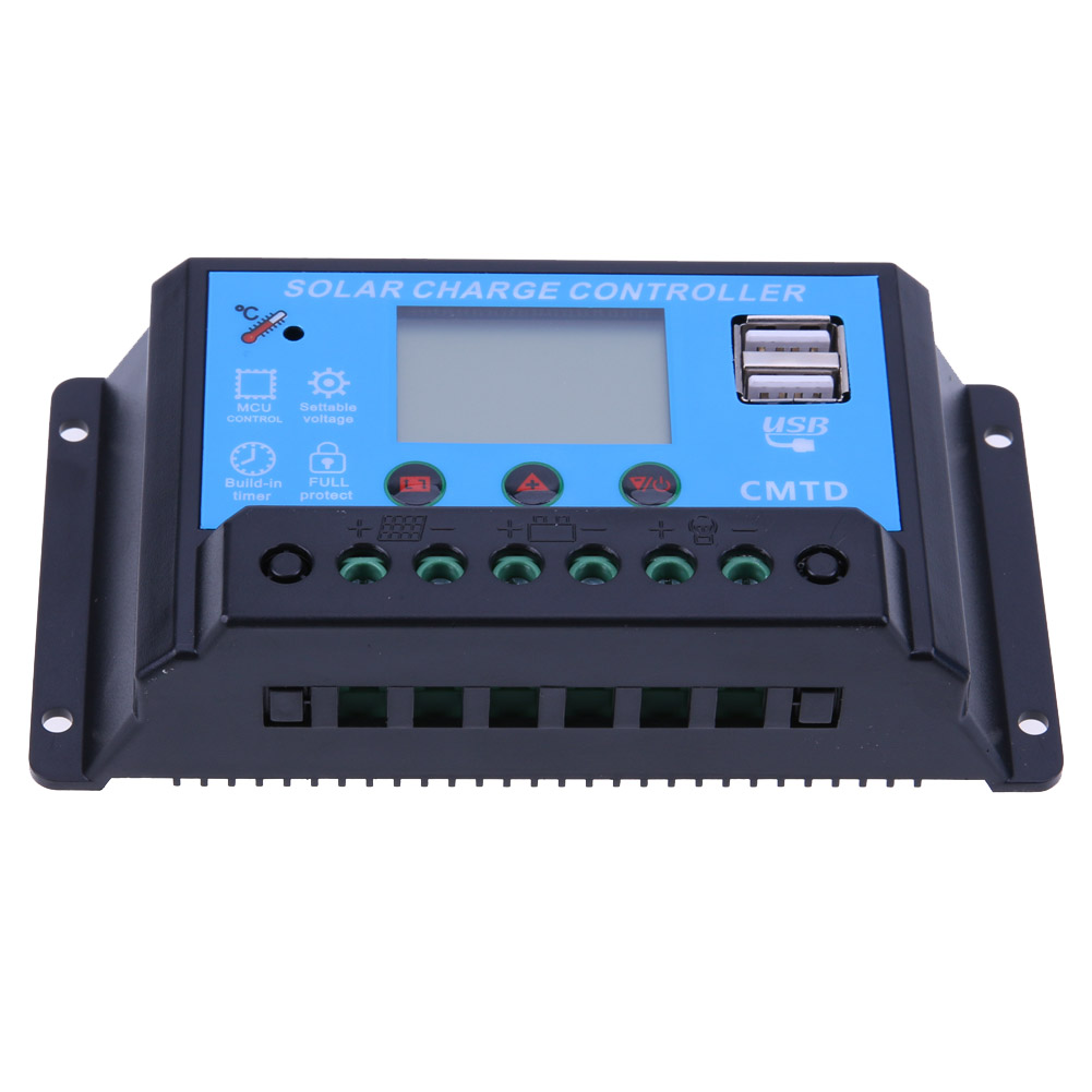 12/24V 20A USB Solar Power Panel Regulator Battery Charge Controller LED Indicator Light for Street Light Solor Systerm