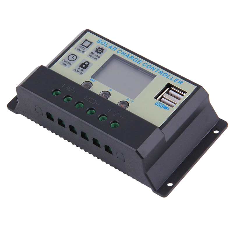 200A 12V/24V LCD Solar Charge Controller with Auto Regulator Timer for Solar Panel Battery Lamp LED Lighting Solar Panel Charge