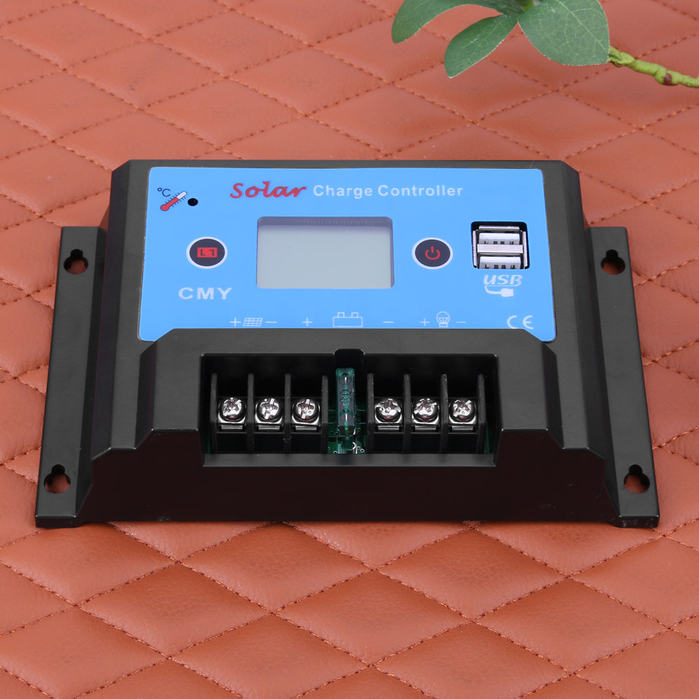 CMY-2420 12/24V 20A USB LCD Display Smart Solar Regulator Charge Controller Temperature Compensation for Light Solor Systerm