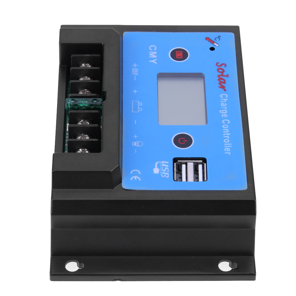 CMY-2410 12/24V 10A USB LCD Display Solar Regulator Charge Controller Dual USB Solar Panel Battery Regulator Charge Controllers