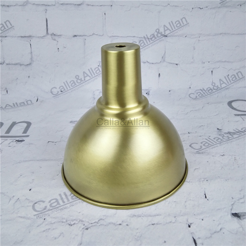 Free ship M10 D160mmX150mm brass material light cover copper cup shade quality E27 lamp shade cover lighting brass shade cone