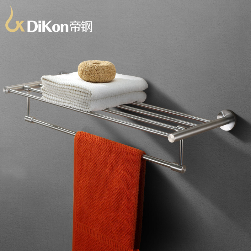 DiKon GJ04 Bathroom Towel Rack Holder Double Layer Solid 304 Stainless Steel 60cm Bathroom Accessories Towels Bar Rack&Holder