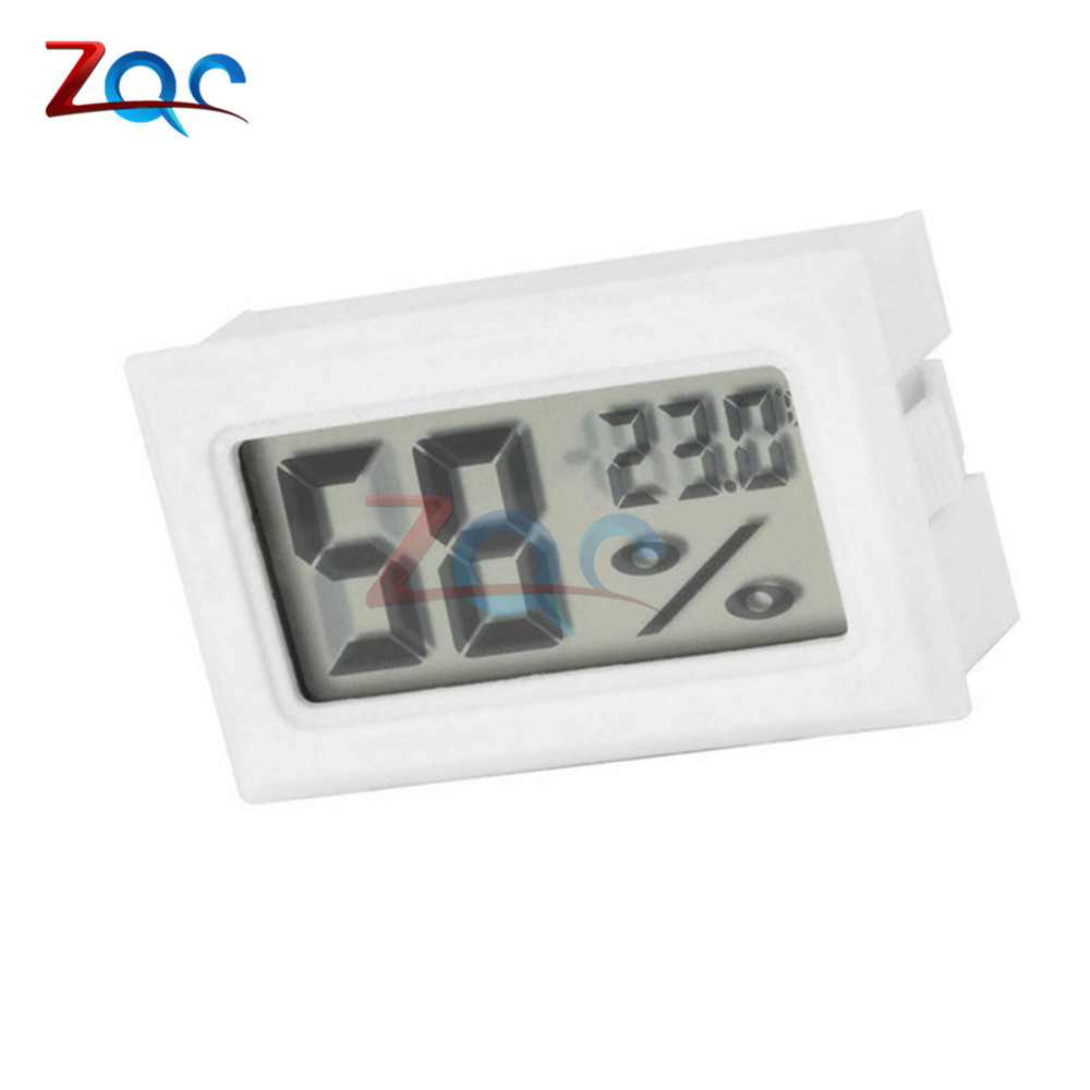White Mini LCD Digital Thermometer Hygrometer Temperature Indoor Convenient Temperature Sensor Humidity Meter Gauge Instruments