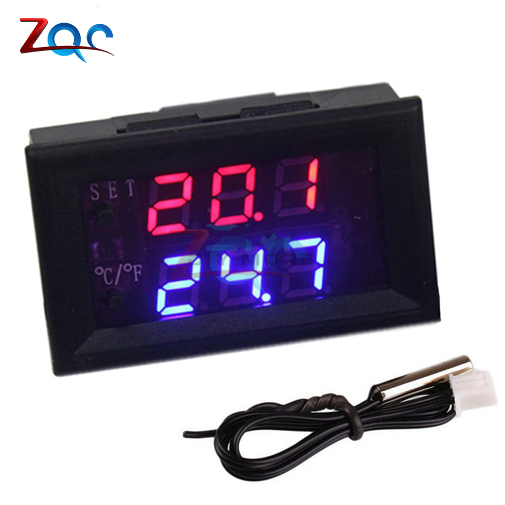 W1209WK W1209 WK DC 12V LED Digital Thermostat Temperature Control Thermometer Thermo Controller Switch Module + NTC Sensor