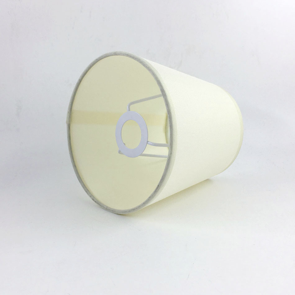 2pcd DIA15.5cm off white color PVC and Fabric Lamp shades, E14