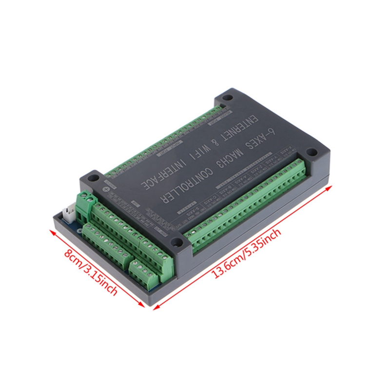 For NVUM 6 Axis CNC Controller MACH3 Ethernet Interface Board Card 200KHz For Stepper Motor -B116
