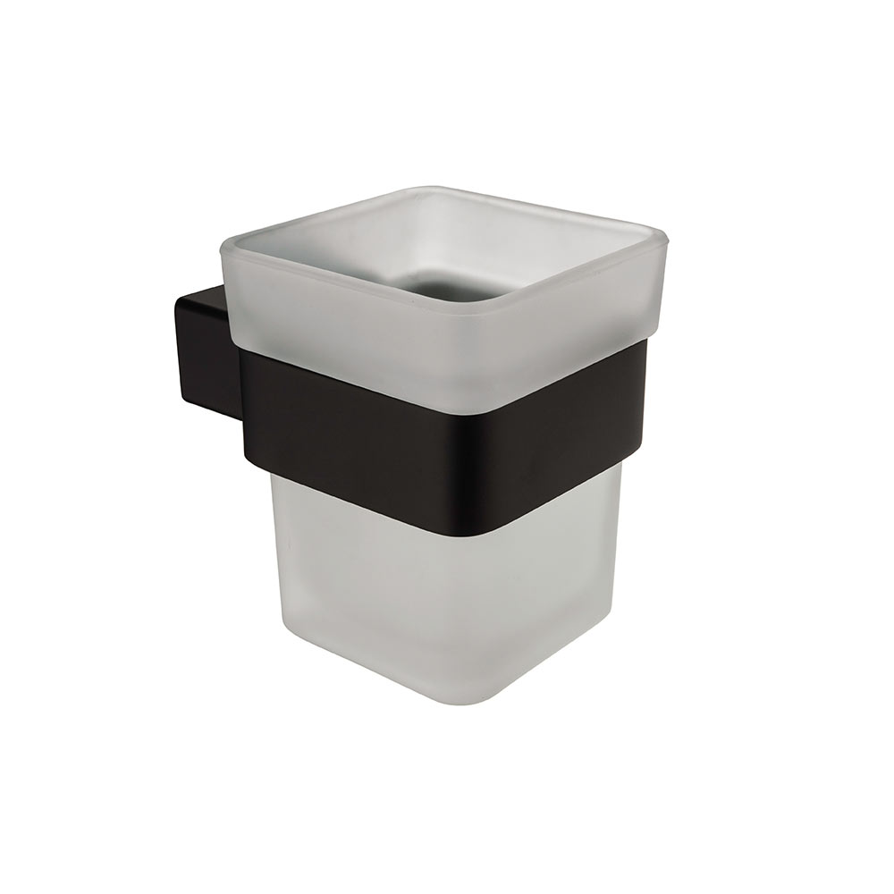 AUSWIND modern Tumbler Cup Holder black painting wall mounted 304 ...