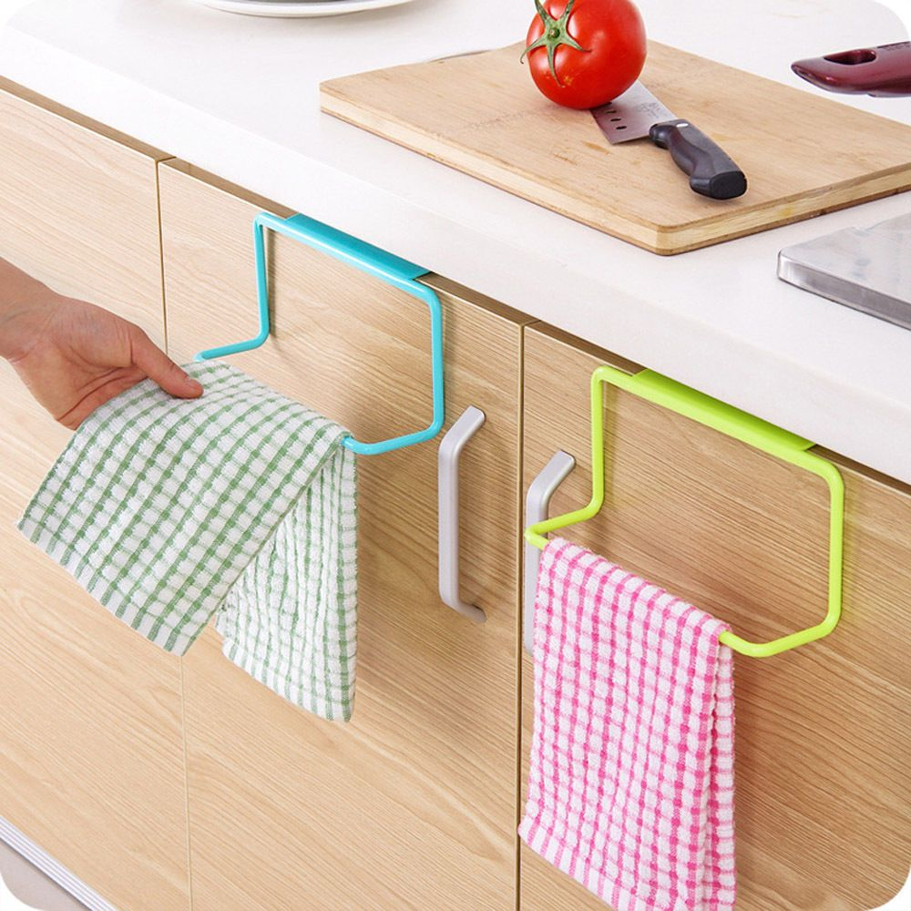New Towel Rack Hanging Holder Organizer Bathroom Kitchen Cabinet Cupboard Hanger