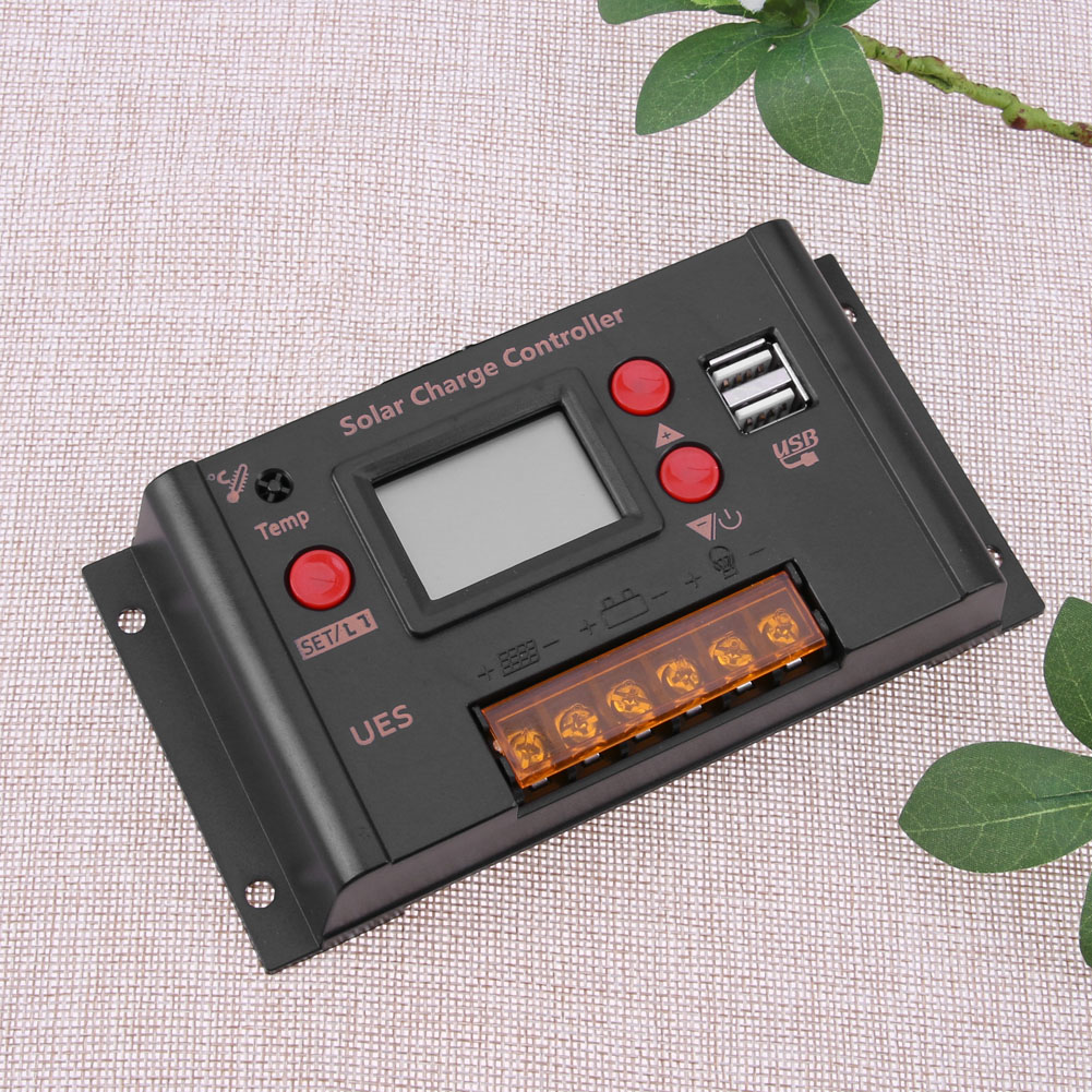 10A DC12V/24V Photovoltaic Solar Panel LCD Solar Charge Charger Controller Kit WPC Controller Home Electrical Equipment Supply