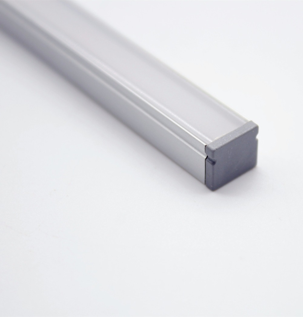 QSG-1008;LED aluminum profile(anodized silver color) with PC cover;for flexible or hard LED strips;led linear light profile