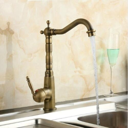 Kitchen Faucets 360 Swivel Antique Brass Porcelain Mixer Tap Bathroom Basin Mixer Hot Cold Tap Antique Faucet