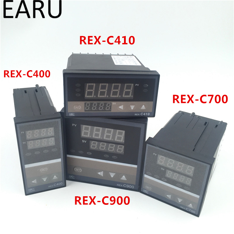 RKC REX-C100 REX-C100FK02-V*DN Digital PID Temperature Control Controller Thermostat SSR Output 0-400 Degrees K Type Input