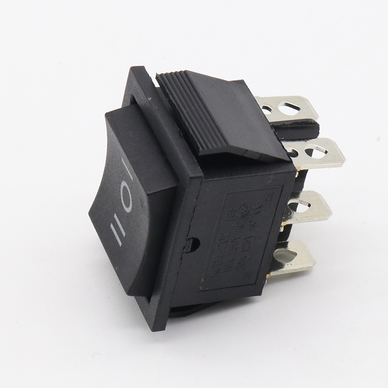 2 pcs momentary rocker switch 6 flat pins,double sides spring return to middle after released