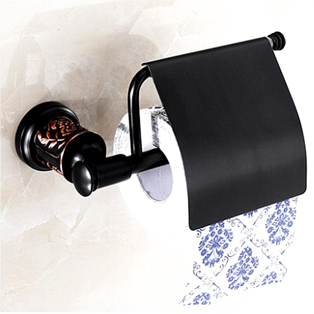 AUSWIND European Sliver Color Toilet Paper Holder Brass Polish Finished Tissue Holder Gold Carved Base Wall Mounted 81H1