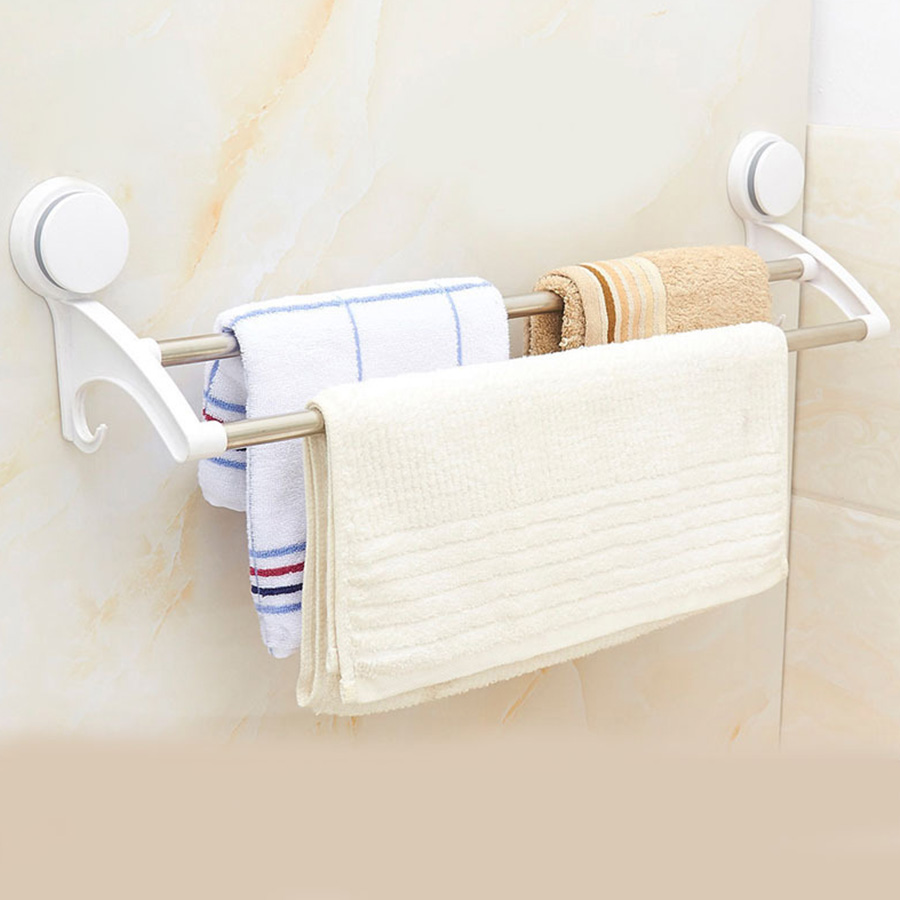 MAXSWAN absorption of single double pole bath kitchen stainless steel double pole towel rack receive frame