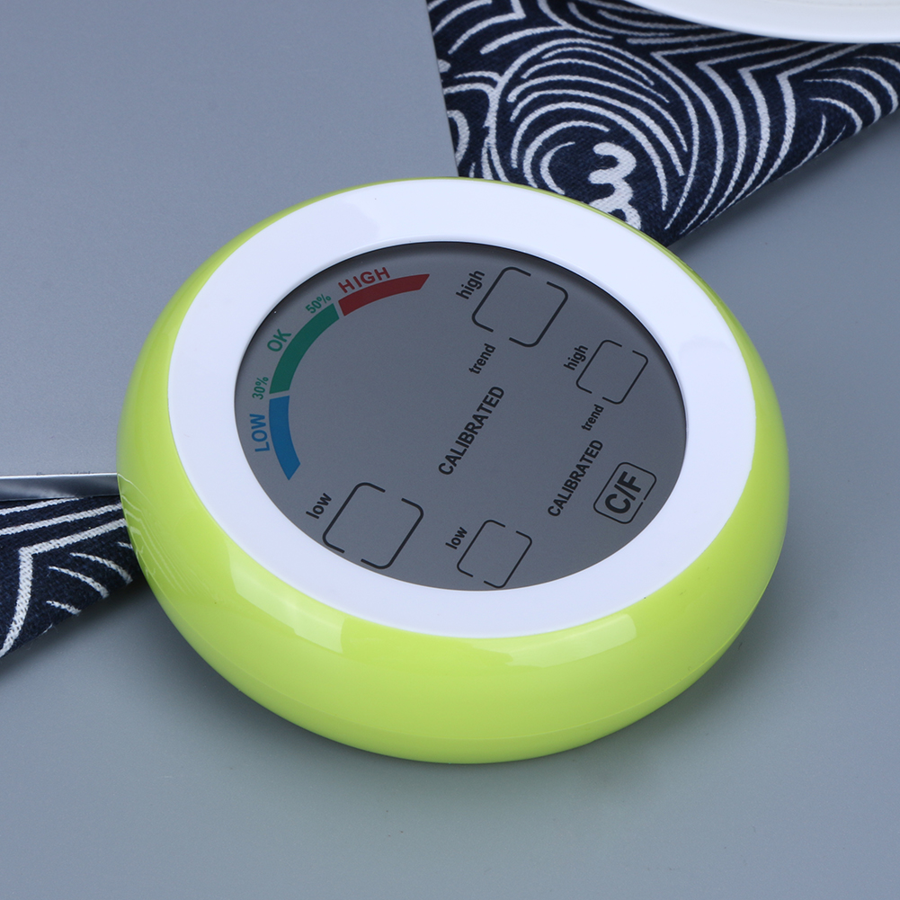 Touch Screen Indoor Backlight Thermometer Indoor Round Digital Temperature Hygrometer