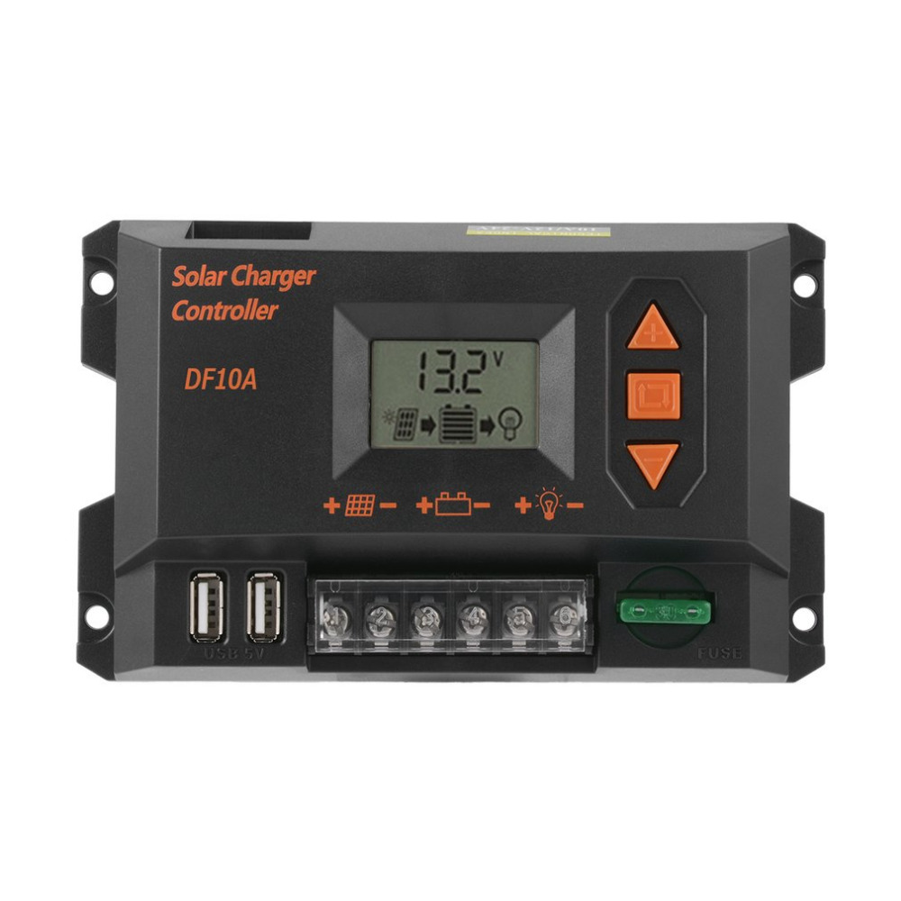 1pc 40A Solar Charger Controller Graphical LCD Display Panel Battery Regulator Safe Electronic Protection Easy to Set Up Operate