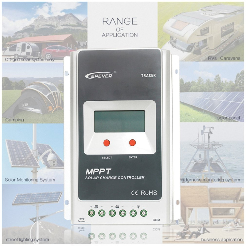 EPEVER 2210A MPPT 20A Solar Charge Controller Battery Regulator PV Input 12V/24VDC With LCD Display Overload Overcharge Protect