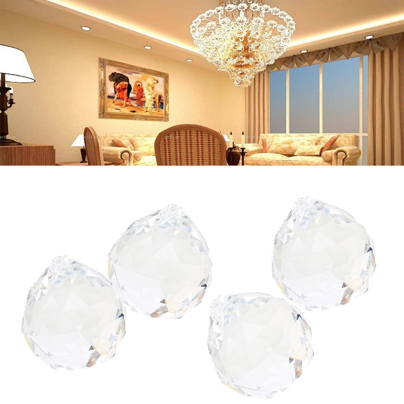 40mm Clear Crystal Ball Prism Chandelier Suncatcher Lamp Pendant Wedding Decor