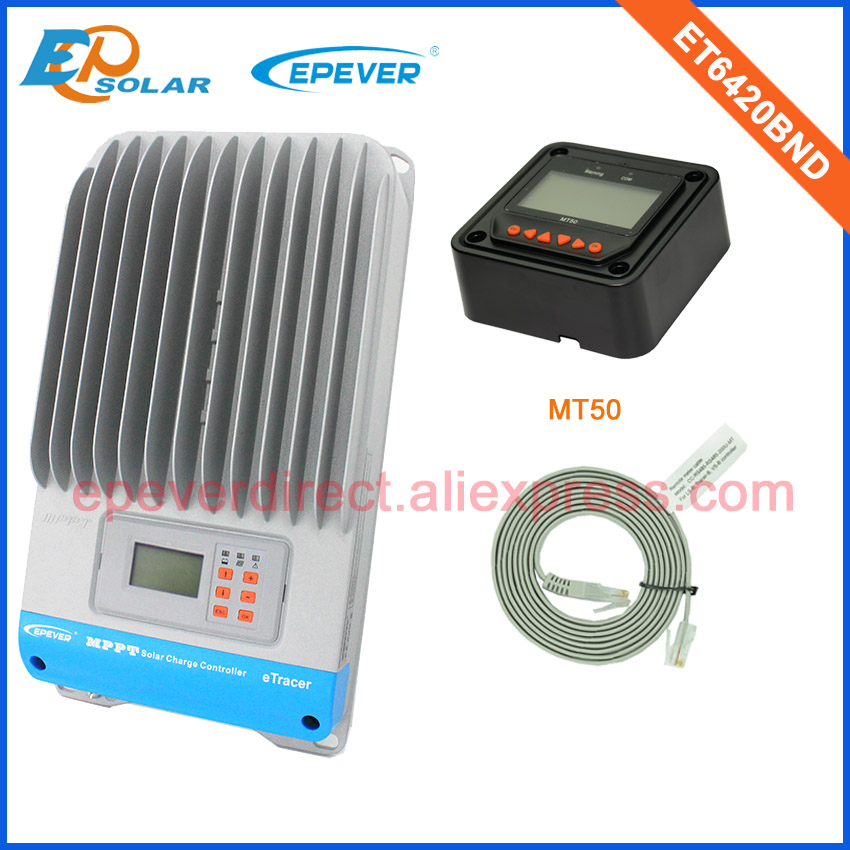 48v MPPT controller solar charger ET6420BND+MT50 in black color 60A 60amp 12v/24v/36v/48v EPEVER products