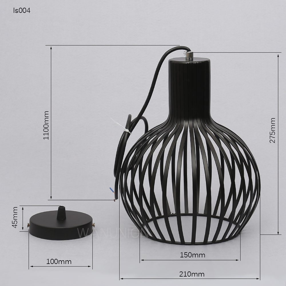 Retro Vintage Edison Pendant Light Bulb Iron Guard Wire Cage Ceiling ...